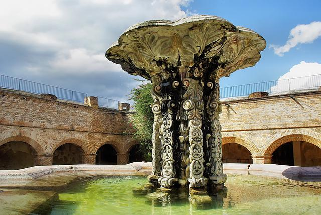 Guatemela, Antigua, Fountain, Convent, Notre-dame-mercy
