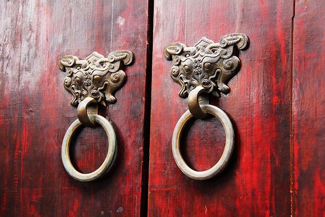 Wood Door, Ancient Door Locks, Treats, Novelties