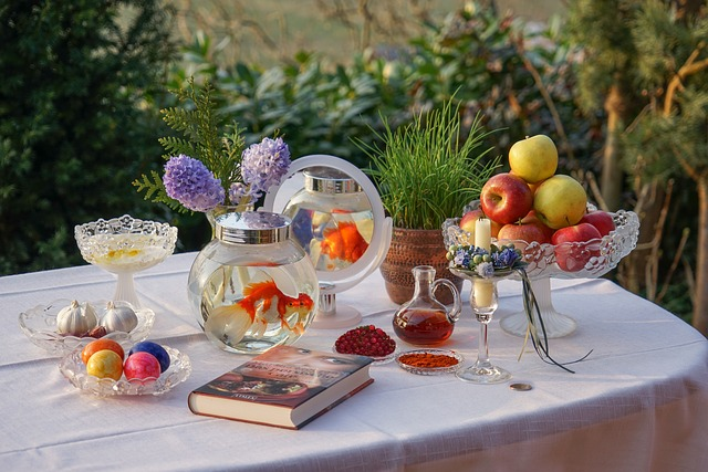 Nowruz, Novruz, Persian New Year's Table, Sofre Haft