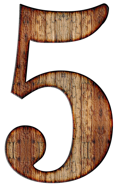 Number, 5, Five, Digit, Background, Scrapbooking