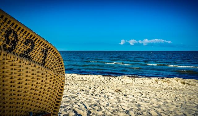 Beach Chair, Braid, Number, Sea, Beach, Water, Sand