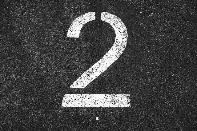 Two, 2, Number Two, Number, Numeral, Digit, Symbol