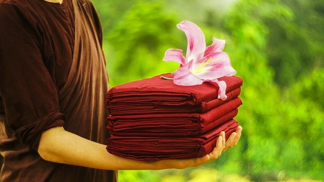 Theravada Buddhism, Buddhist, Nun, Offering Robe