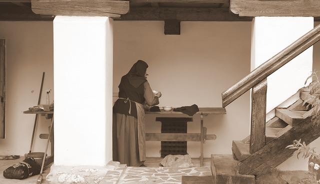 Nun, Monastery, Work, Rural