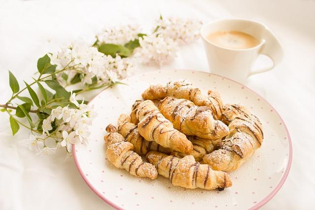 Croissant, Nutella, Chocolate, Coffee, Breakfast