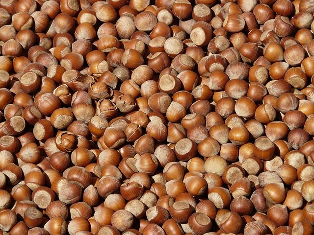 Hazelnuts, Brown, Nuts, Open, Shells, Market