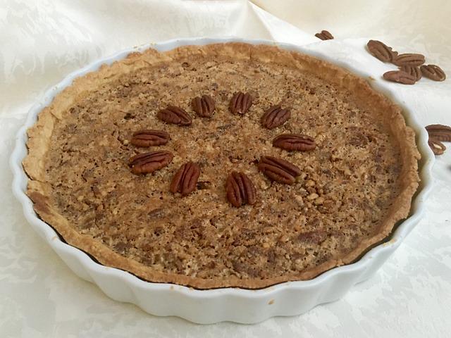 Pecan Pie, Cake, Bake, Nuts, Sweet, Pastries