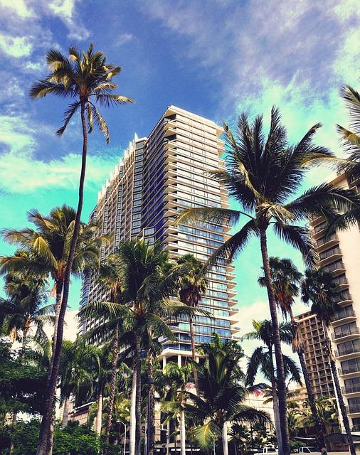 Hawaii, Honolulu, Oahu, Waikiki, Hotel, Beach, Travel