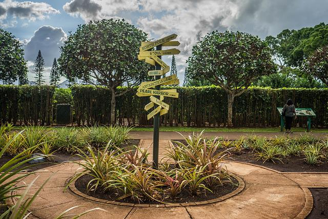 Sign, Hawaii, Oahu, Dole Pineapple Plantation, Summer