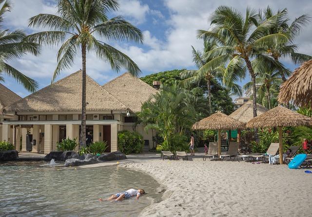 Boy, Relaxing, Hawaii, Oahu, Resort, Ko Olina, Marriott