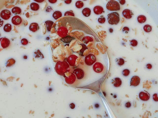 Breakfast, Muesli, Currants, Healthy, Oatmeal, Fruit