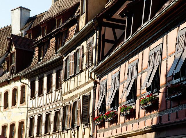 Alsace, Obernai, Studs, Shutters