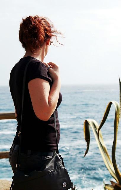 Sea, Girl, Mediterranean Sea, Observe, Nature