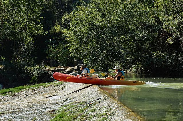 Canoe, Kayak, Dam, Obstacle