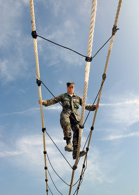 Training, Obstacle, Ropes Course, Military, Sky, Clouds
