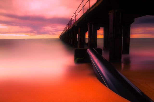 Australia, Sea, Ocean, Sunset, Dusk, Reflections