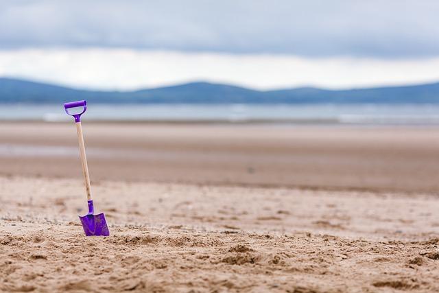 Beach, Shovel, Toy, Sand, Coast, Ocean, Vacation, Sea