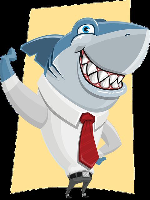 Shark, Business, Corporate, Ocean, Danger, Leader, Tie