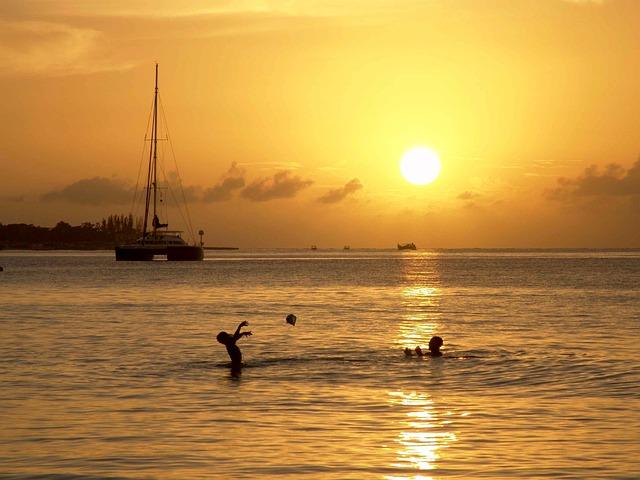 Jamaica, Sun, Ocean, Sea, Caribbean, Boot, Tropics