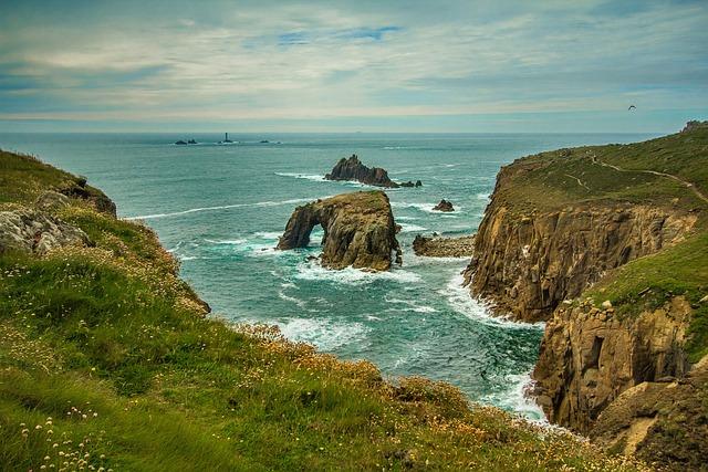 Cornwall, Ocean, Reefs, Coast