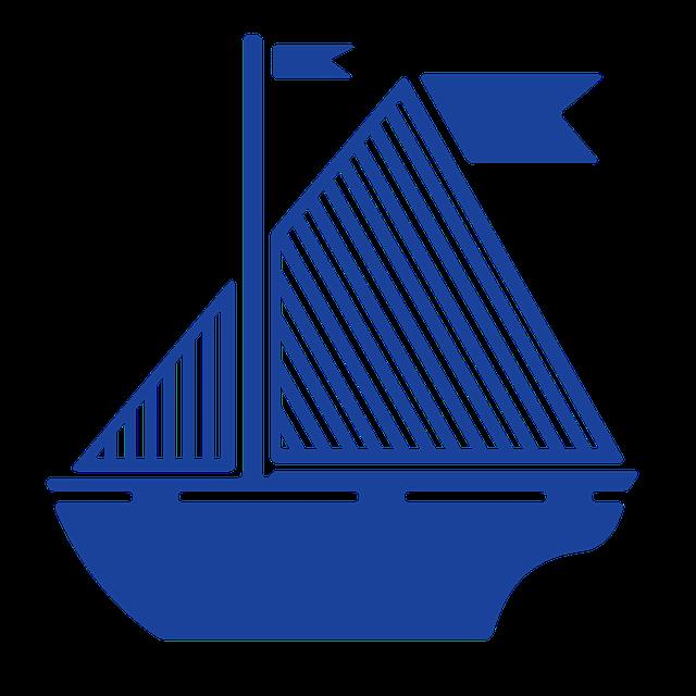 Sail Boat, Flag, Blue, Sail, Boat, Ocean, Ship, Water