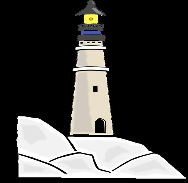 Lighthouse, Building, Light, Ocean