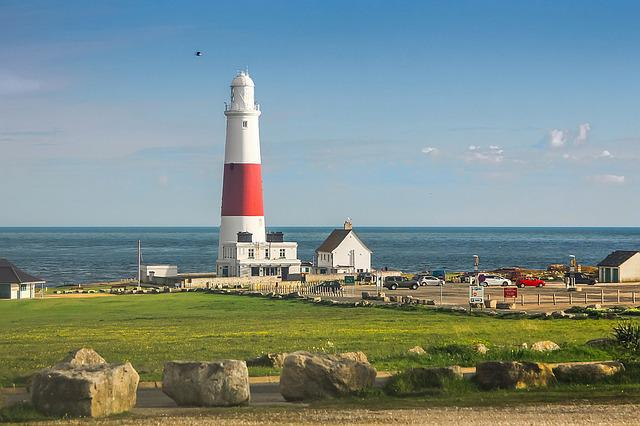 Portland Bill, Ocean, Lighthouse, England
