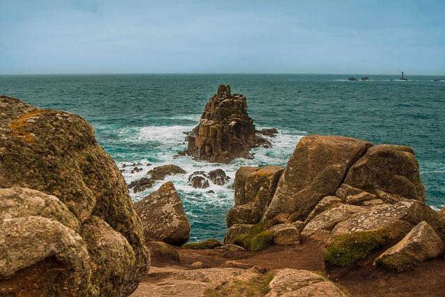 Land's End, Cornwall, Ocean, Seascape, Nature, Horizon