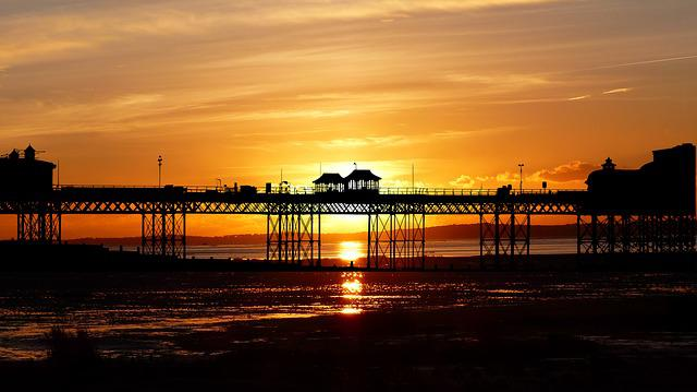 Sunset, Pontoon, Wharf, Summer, Sky, Nature, Ocean