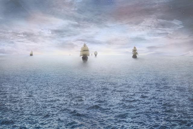Pirate, Ship, Ocean, Pirate Ship, Horizon, Dawn