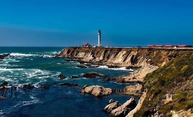 Point Arena Lighthouse, Light, Ocean, California