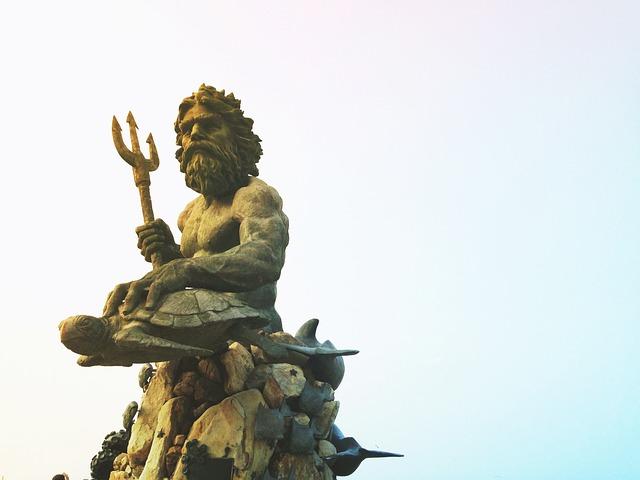 Poseidon, Ocean, Sea, Mythology, Landmark, Tourism