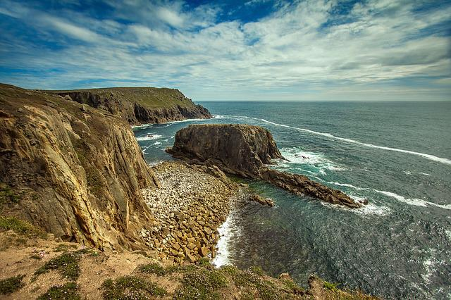 Land's End, Ocean, Reefs, Coast
