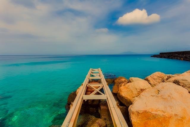 Capri, Italy, Sky, Clouds, Sea, Ocean, Rocks, Stones