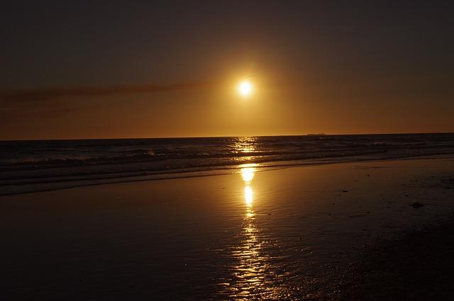 Sunset, Ocean, Sky, Nature, Sea, Beach, Romantic