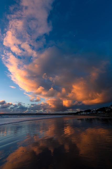 Beach, Tide, Sunrise, Ocean, Sea, Water, Coast, Wave