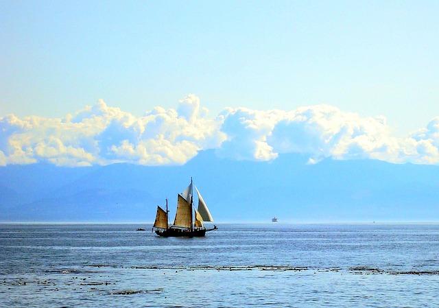 Clipper, Ship, Sea, Boat, Ocean, Sky, Sailboat