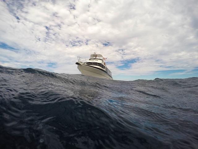 Clouds, Ocean, Sea, Sky, Water, Yacht