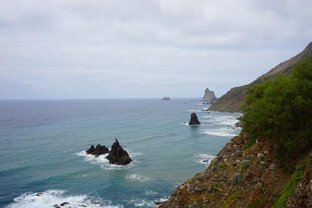 Tenerife, North Coast, Coast, Sea, Ocean, Islands