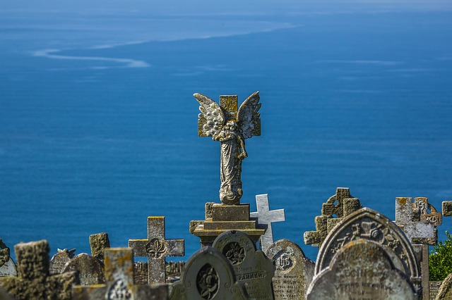 The Statue Of, Monument, Angel, Ocean