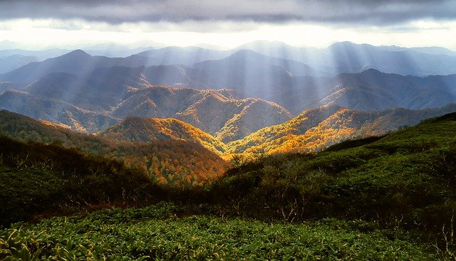 Autumn, Mountains, Luster, Autumnal Leaves, October