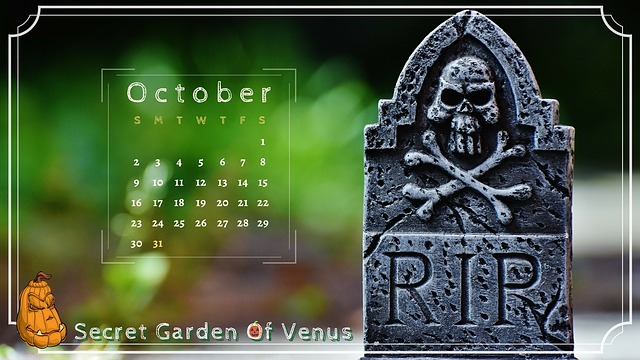 Secret Garden Of Venus, Calendar, October, Halloween