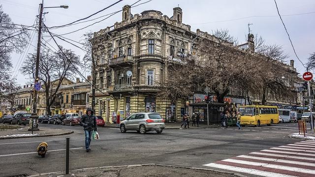 Odessa Street, Crossroads, Pedestrian, Machinery