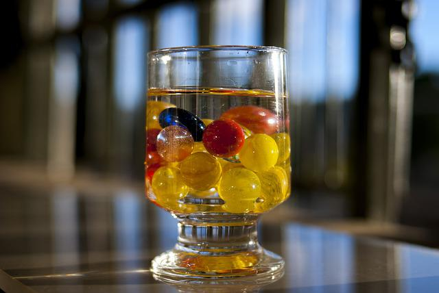 Container, Of, Glass, Color, Marbles