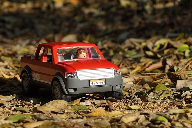 Playmobil, Off Road, 4 Wheel Drive, Pickup Truck, Trail