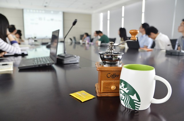 Office, Coffee, Starbucks, Cup, Conference, Discuss