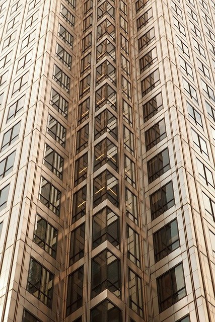 Brown, Modern Building, Office, City, Abstract Pattern