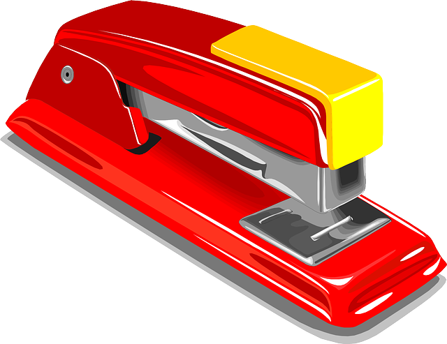 Stapler, Staple, Stapling, Red, Office, Tool, Isolated