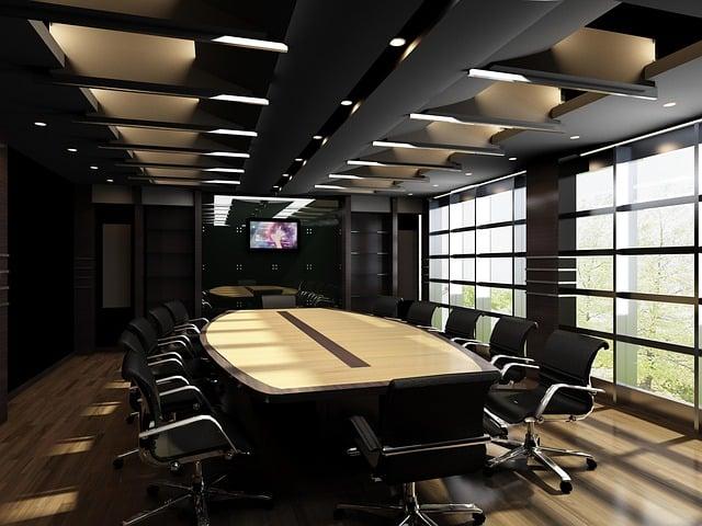 Light, Interior Design, Tv, Multi-screen, Office