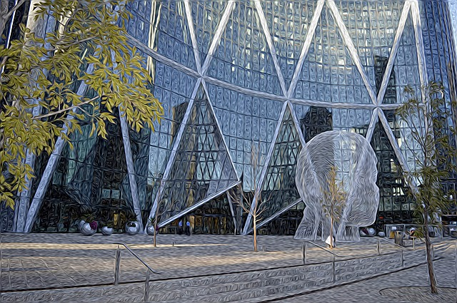 Calgary, City, Canada, Urban, Office, Architecture
